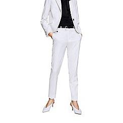 Mango - White 'Boreal' suit trousers