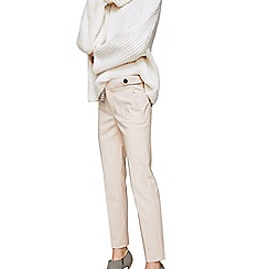 Mango - Natural 'Alano' cropped trousers