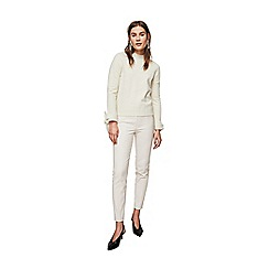 Mango - Ivory zip-pocket 'Avanti' slim fit trousers