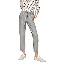 Mango - Grey pure linen straight fit trousers