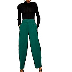 Mango - Green 'Burbuja' cropped trousers