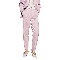Mango - Pastel purple linen blend 'Malvo' trousers