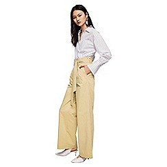 Mango - Camel 'Paperbag' pleated trousers
