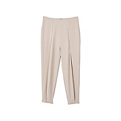 Mango - Light brown 'Luison' pleated trousers