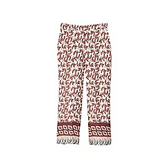 Mango - Multi-coloured floral print 'Magic' straight fit trousers