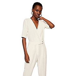 Mango - Off white 'Africa' v-neck jumpsuit