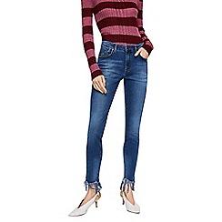 Mango - Blue mid wash 'Upshark' skinny jeans