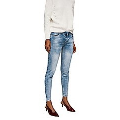 Mango - Light blue acid wash 'Kim' push-up jeans