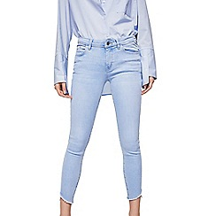 Mango - Blue light wash 'Isa' skinny fit cropped jeans