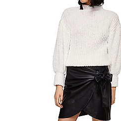 Mango - Black 'City' mini wrap skirt