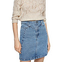 Mango - Blue denim 'Hippy' mini skirt