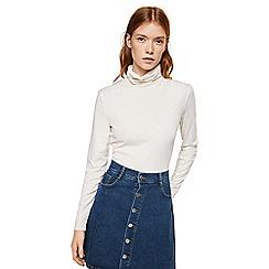 Mango - Blue buttoned 'Lina' mini denim skirt