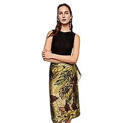 Mango - Green printed 'Tana' knee length skirt