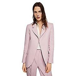 Mango - Pastel purple linen blend 'London' jacket