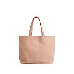 Mango - Pink leather 'Sofia' shopper bag