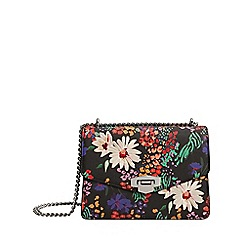 Mango - Black floral print 'Daisy' bag