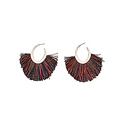 Mango - Multi-coloured 'Palermo' fringe earrings