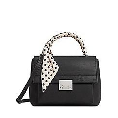 Mango - Black 'Lunar' scarf handle bag