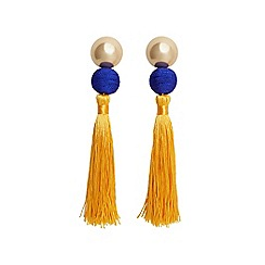 Mango - Yellow 'Simba' tassel earrings