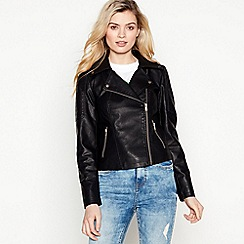 Noisy may - Black Faux Leather 'Rebel' Jacket