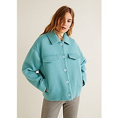Mango - Green wool blend 'Wales' jacket