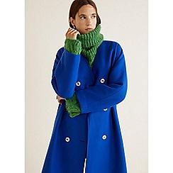 Mango - Blue Wool Blend 'Paola' Coat