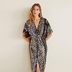 Mango - Multi-coloured sequin 'Madusha' v-neck knee length dress