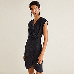 Mango - Metallic Thread Dress