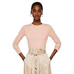 Mango - Pink 'Dranon' Swiss tulle panel sweater