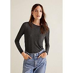 Mango - Grey Cashmere Blend 'Genova' Sweater