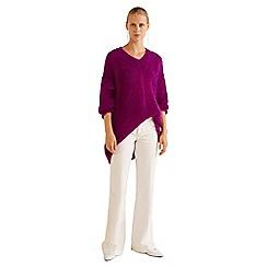 Mango - Purple wool blend 'Vronski' sweater