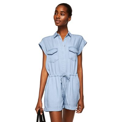c5896610a4c Mango Blue denim  Jane  playsuit