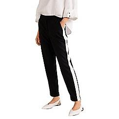 Mango - Black 'Soul' contrast panel trousers