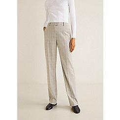 Mango - Grey check print 'Davinci' suit trousers