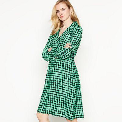 e02440f6b3 Vero Moda - Green Dot Print  Sarah  Knee Length Wrap Dress