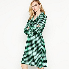Vero Moda - Green Dot Print 'Sarah' Knee Length Wrap Dress