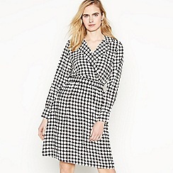 Vero Moda - Black Dot Print 'Sarah' Knee Length Wrap Dress