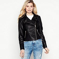 bbbaae12f62e Vero Moda - Black Faux Leather  Rebel  Jacket