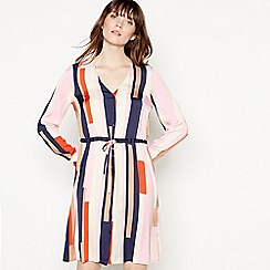 Vero Moda - Multicoloured Striped 'Matilda' Knee Length Shirt Dress