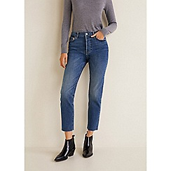 Mango - Blue Mid Wash Denim 'Coconut' Straight Leg Jeans