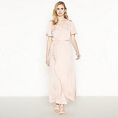 Vila - Pale Pink Maxi Wrap Dress