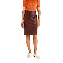 Mango - Red knee length pencil skirt
