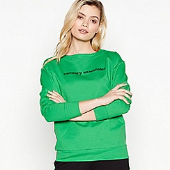 Simple Stories - Green 'Cassie' Organic Cotton Sweatshirt
