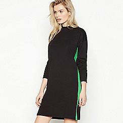 Simple Stories - Black Side Stripe Cotton 'Leah' Knee Length Dress