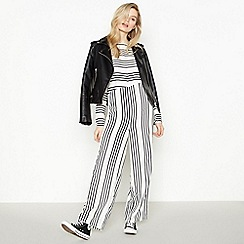 Simple Stories - White Striped 'Sara' Jumpsuit