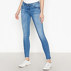 Simple Stories - Light Blue Mid Wash Ankle Zip 'Kimmy' Skinny Jeans