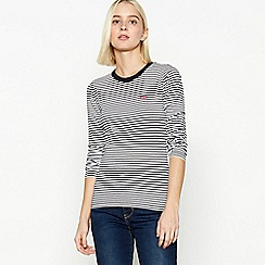 Levi's - Black Striped Long Sleeve Top