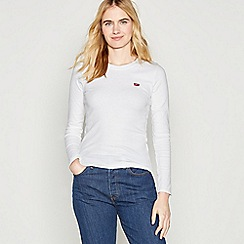 Levi's - White 'Baby' Cotton Long Sleeve T-Shirt