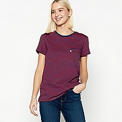 Levi's - Red Stripe 'Perfect Crew' Cotton T-Shirt
