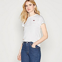 Levi's - White 'Perfect' Cotton T-Shirt